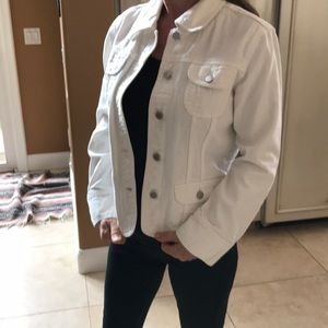 White j.jill original jean jacket